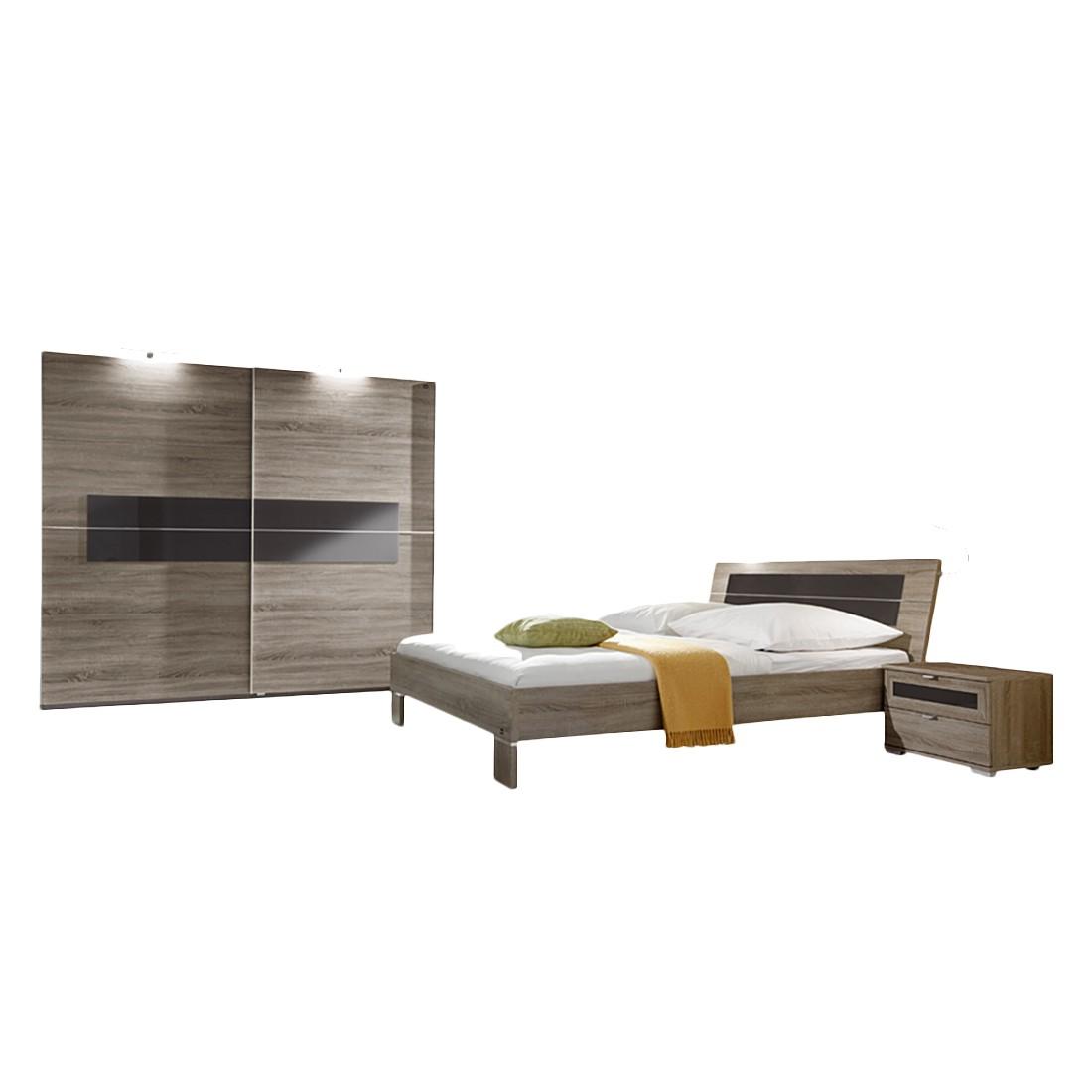 Schlafzimmer Komplettset Zoreca (4-teilig) – Eiche Dekor/Braun – 002 – Ausführung: Ausführung 2, Star Möbel jetzt bestellen
