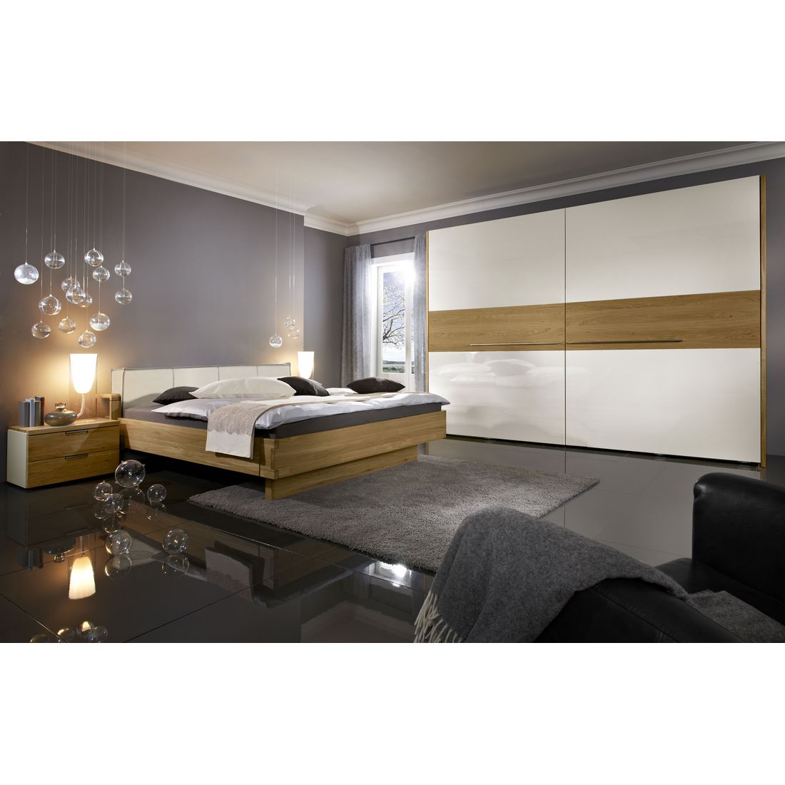 schlafzimmer maximum natur echtholz funier eiche struktur 200x200 loddenkemper online. Black Bedroom Furniture Sets. Home Design Ideas