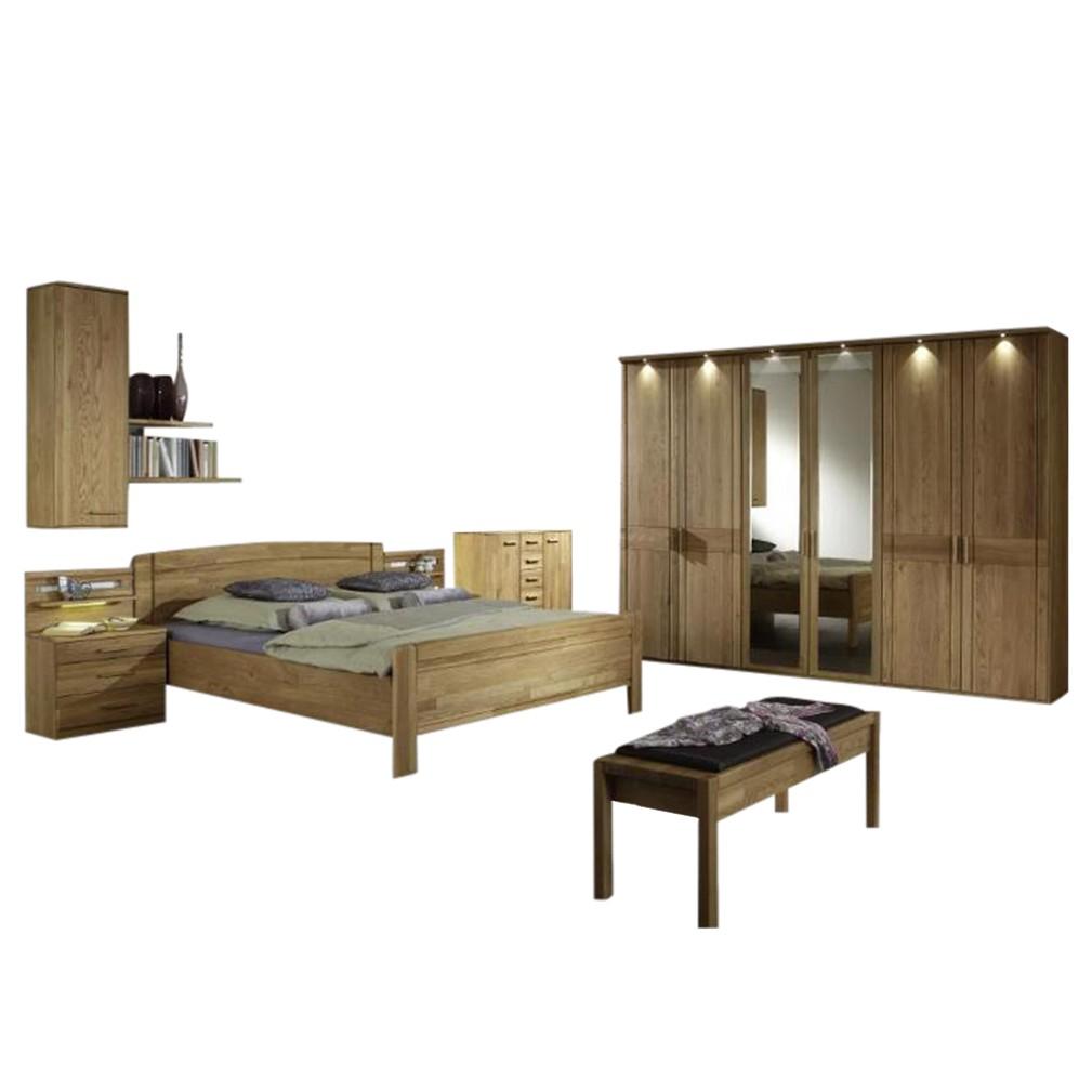 Schlafzimmer Münster – Eiche teilmassiv – Eiche – 216x300x58, Althoff jetzt kaufen