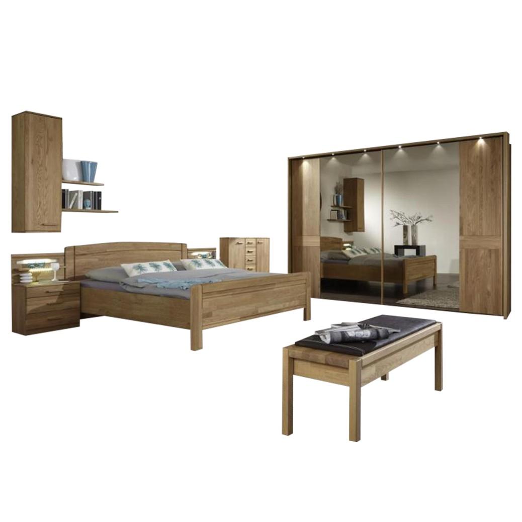 Schlafzimmer Münster – Eiche teilmassiv – Eiche – 220x260x58, Althoff günstig kaufen