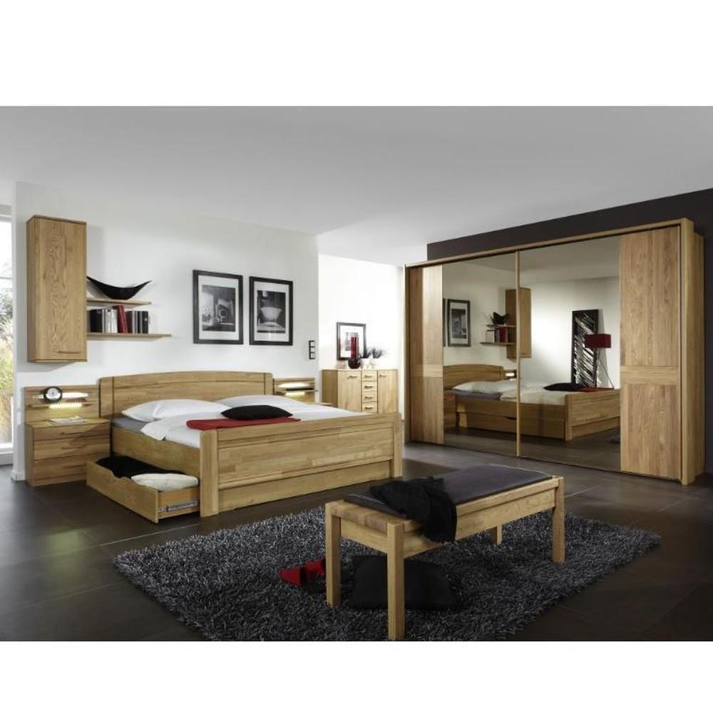 Schlafzimmer Münster – Eiche teilmassiv – Eiche, Althoff günstig bestellen