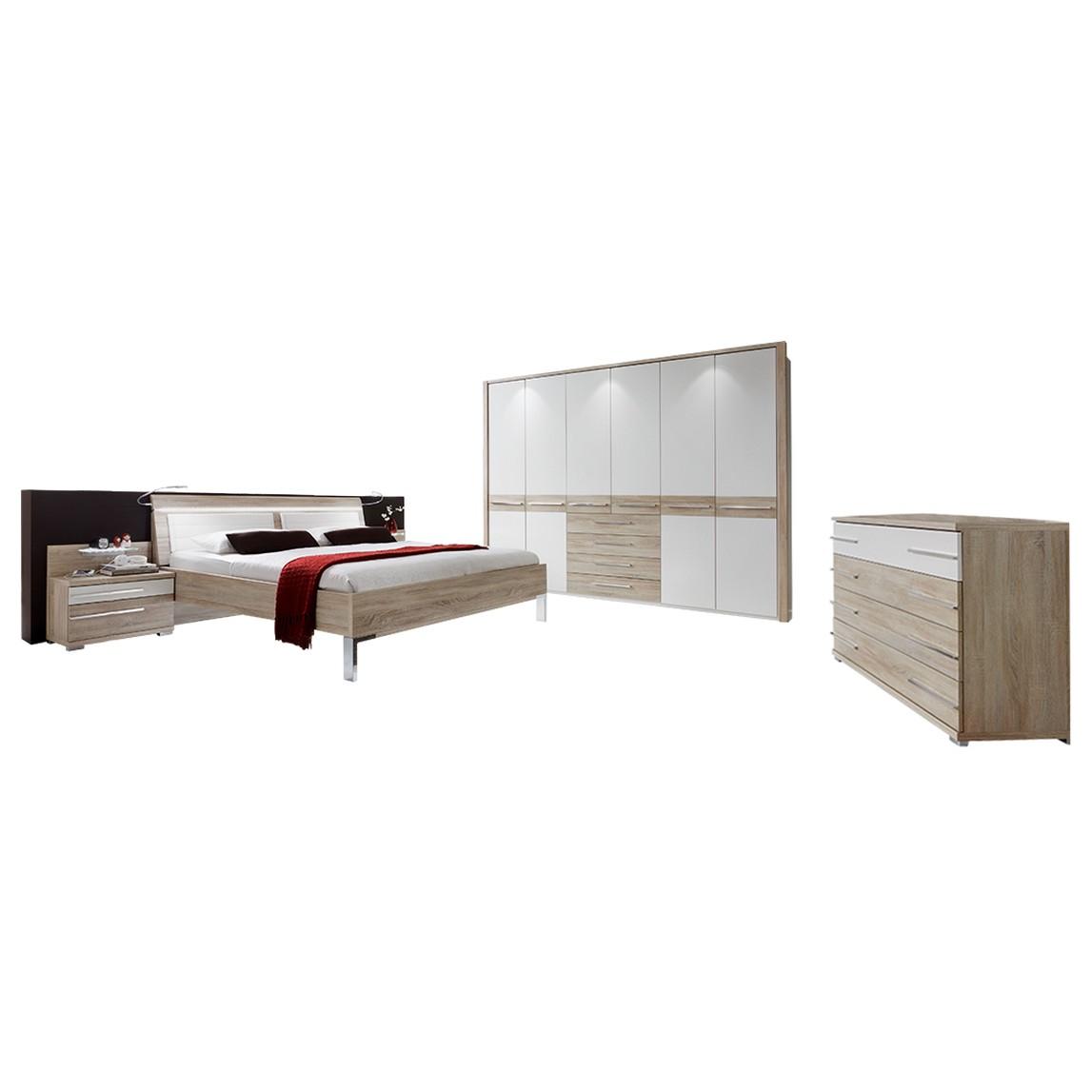 Schlafzimmer Pasadena – Weiß/Eiche sägerau – 94 cm x 189 cm x 222 cm, Althoff jetzt kaufen