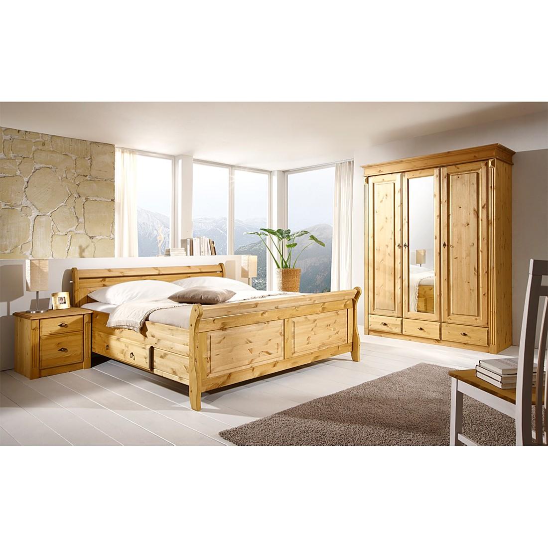schlafzimmer set cenan ii 4 teilig kiefer massiv gebeizt lackiert. Black Bedroom Furniture Sets. Home Design Ideas