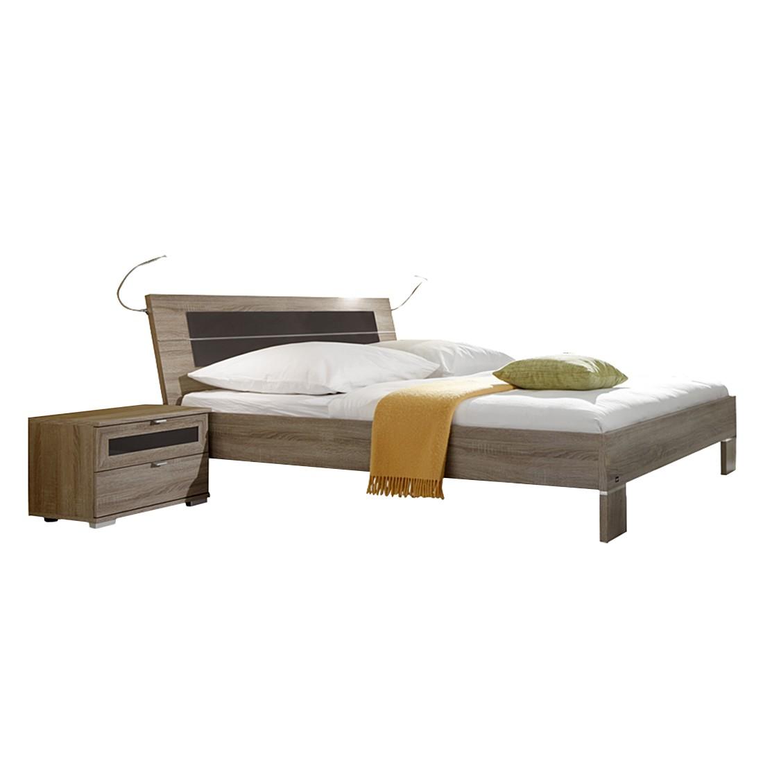 Schlafzimmer Set Zoreca (4-teilig) - Eiche Dekor/Braun - 001 - Liegefläche: 160x200, Star Möbel ...