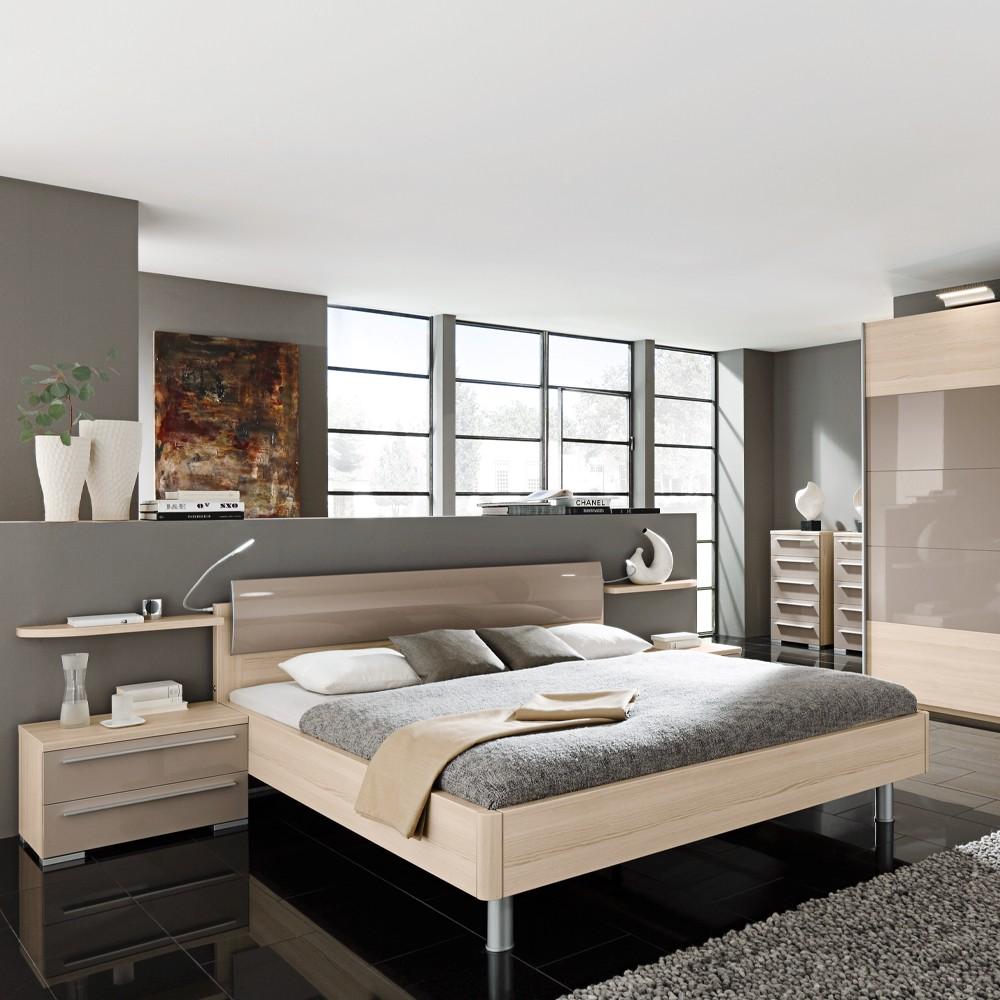 Schlafzimmer Vento - Echtholz funier - Platin-Esche - 160x200 ...