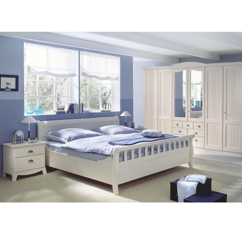 Schlafzimmerkombination Veneto I (4-teilig) - Fichte Weiß gewachst ...
