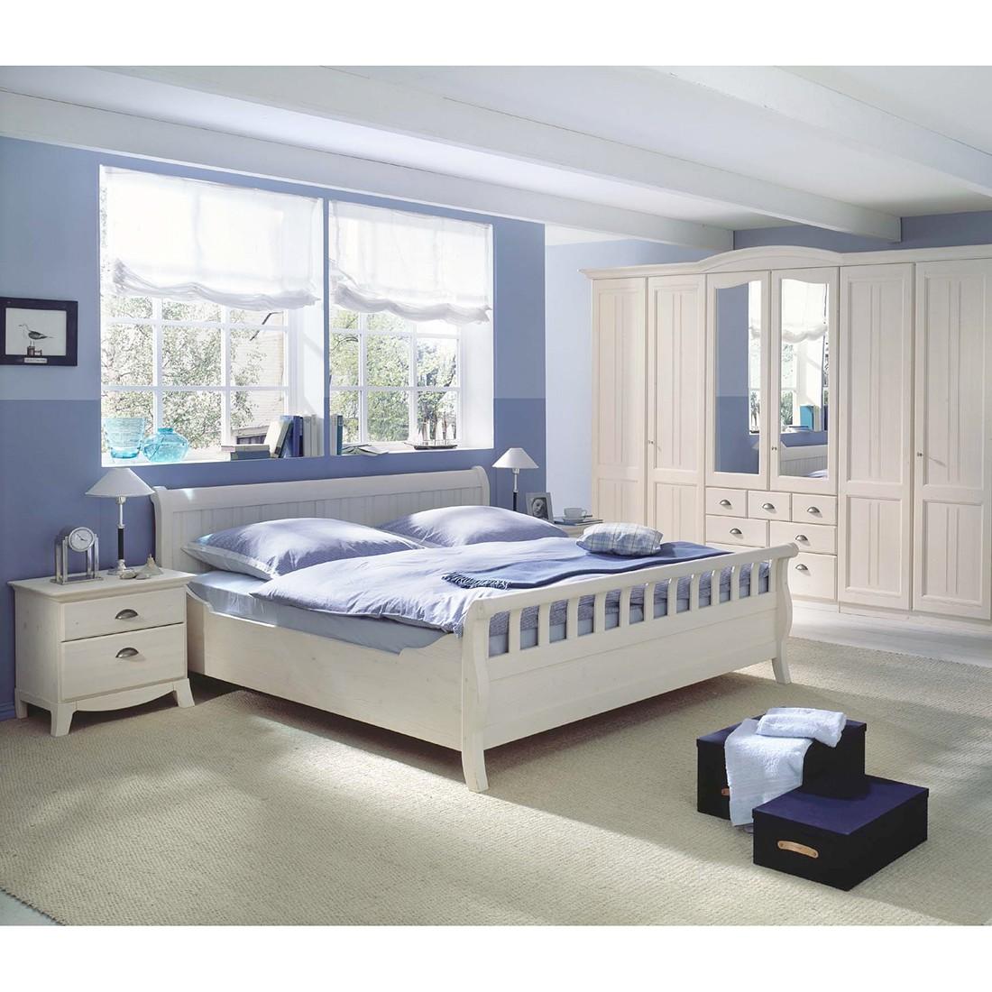 Schlafzimmerkombination Veneto I (4-teilig) – Fichte Weiß gewachst, LMIE online bestellen