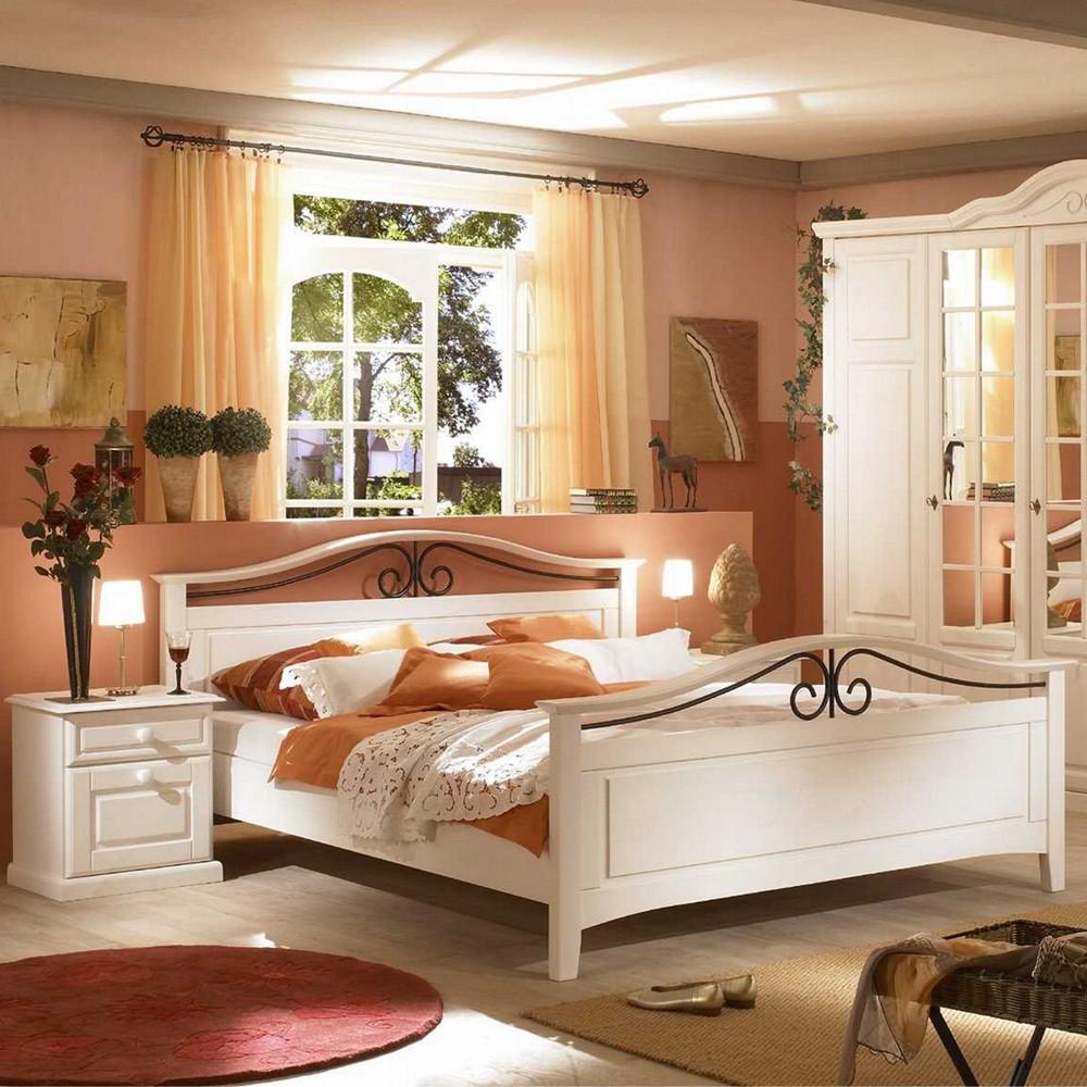 Schlafzimmermöbel Set Andiamo (3-teilig) – Weiß – Bett & zwei Nachtkommoden – Liegefläche: 200 x 200 cm, Nature Dream günstig kaufen