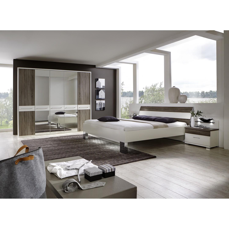 Schlafzimmerset Ancona III (4-teilig) - Alpinweiß/Trüffeleiche Dekor, Althoff