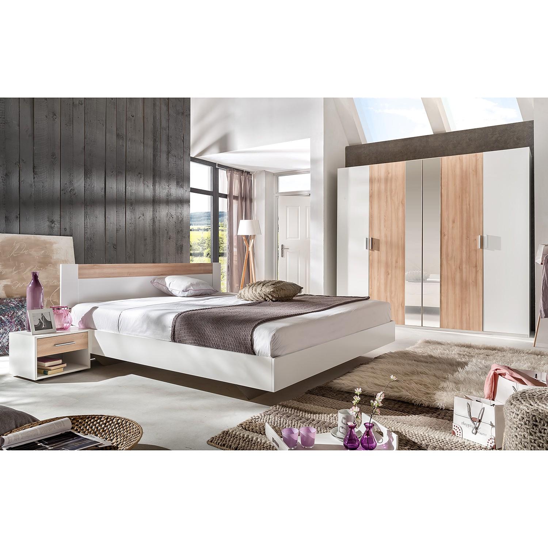 Schlafzimmerset Basic (4-teilig) I – Alpinweiß / Edelbuche Dekor, Wimex günstig online kaufen