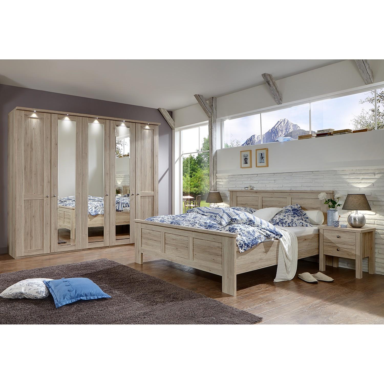 Schlafzimmerset Bergamo I (4-teilig) - Santana Eiche Dekor, Althoff