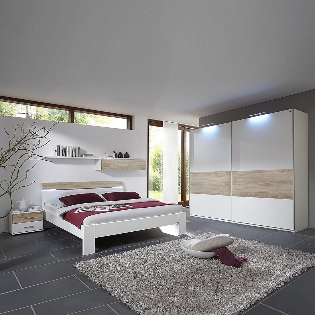 Schlafzimmerset Happyhour (4-teilig) - Alpinweiß/Eiche-sägerau