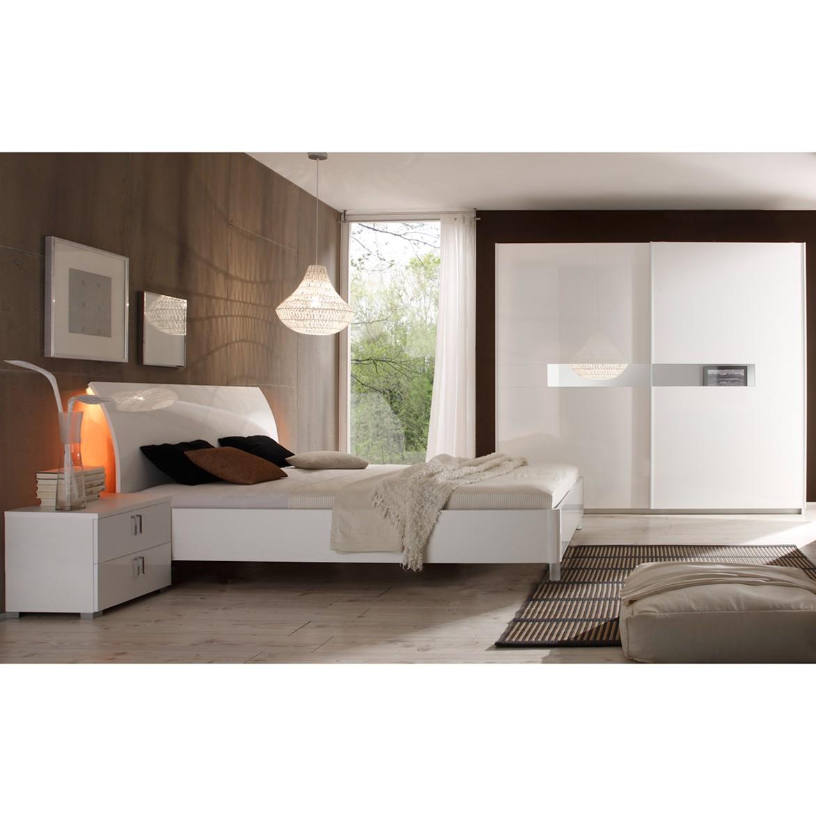 Schlafzimmerset II Lidia (4-teilig) - Hochglanz Weiß, Lc Mobili