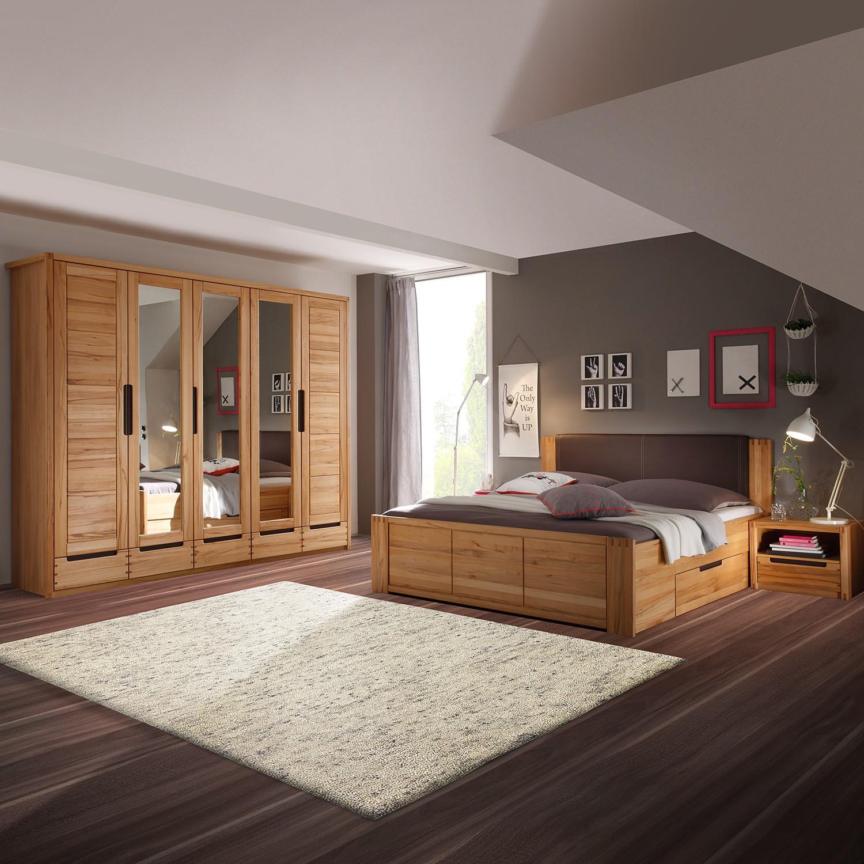 Schlafzimmerset Kendisi (4-teilig) - Kernbuche teilmassiv, Ars Natura