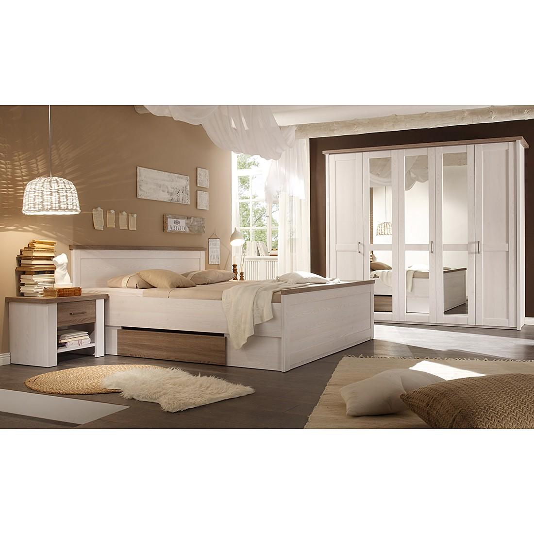 Schlafzimmerset Linus (4-teilig) – Weiß/Trüffel, Modoform jetzt kaufen