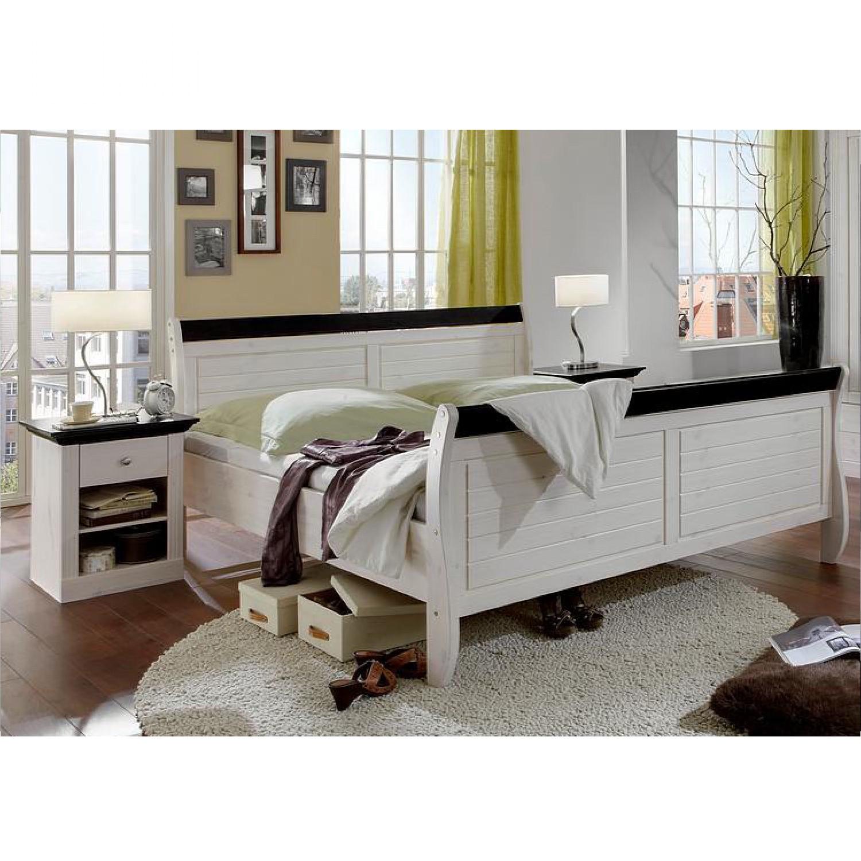 Schlafzimmerset Lyngby (4-teilig) - Kiefer massiv - Weiß, Steens