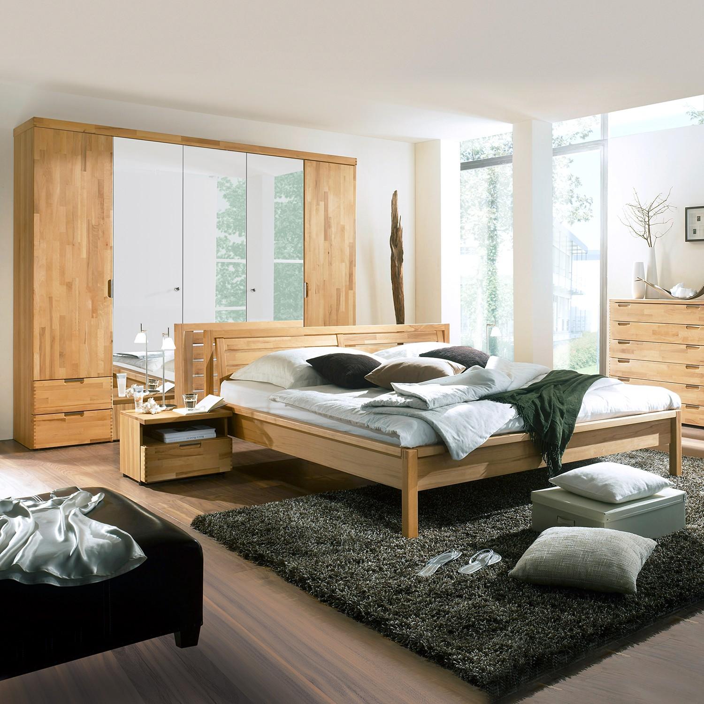 Schlafzimmerset Muara (4-teilig) - Kernbuche teilmassiv, Ars Natura