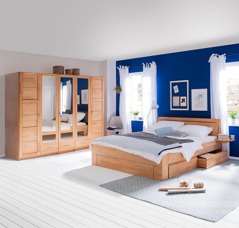 Schlafzimmerset NydiaWOOD (2-teilig) - Kernbuche, Ars Natura