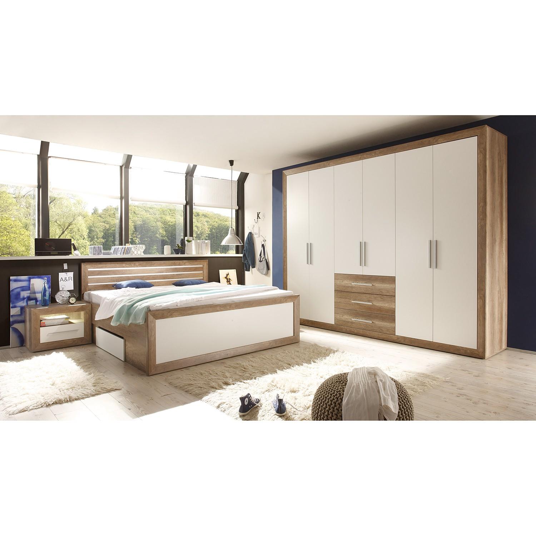 Schlafzimmerset Rachid (4-teilig) - Canyon Oak Dekor / Weiß, Modoform