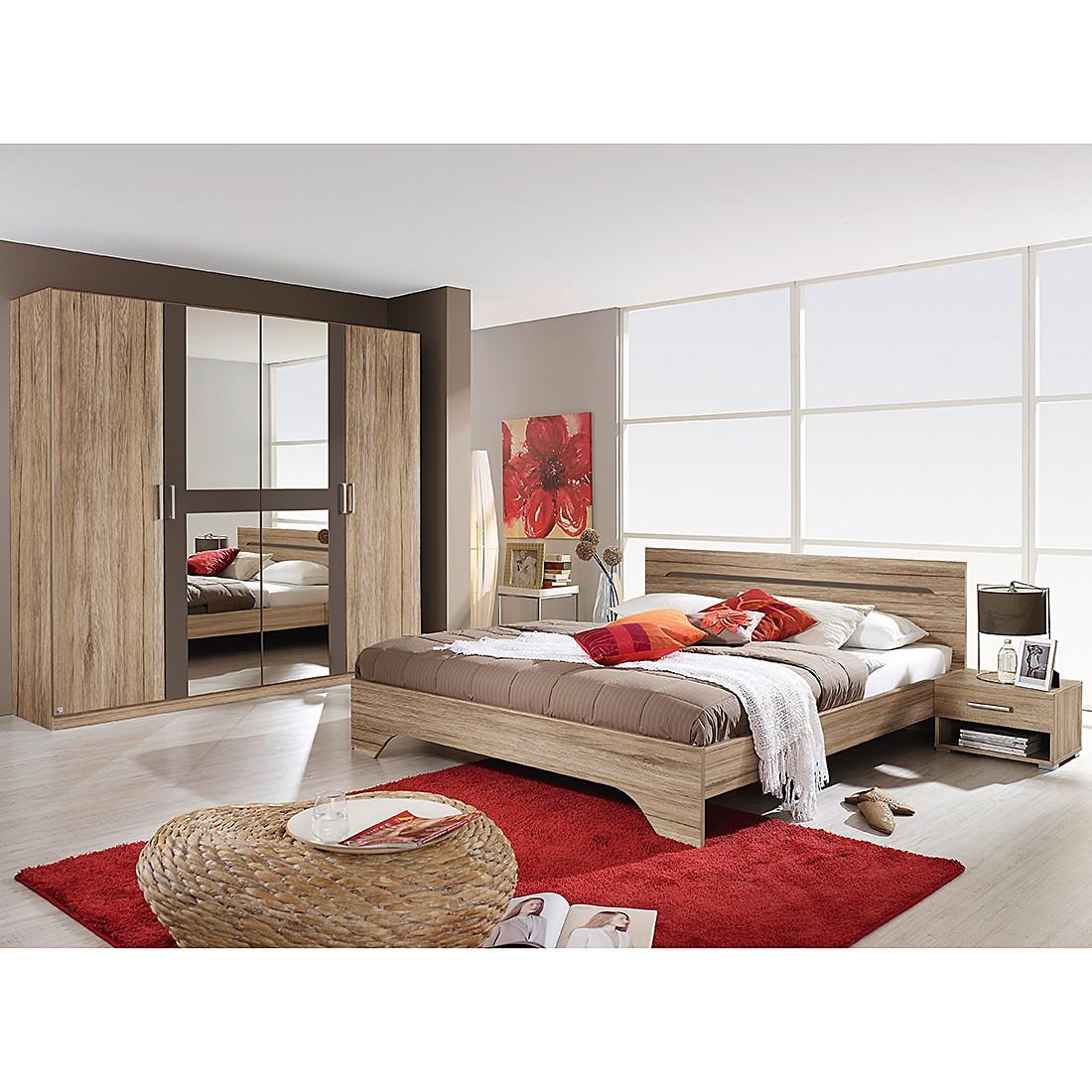 Schlafzimmerset Rubi I (4-teilig) – Sanremo Eiche Dekor/Lavagrau – Liegefläche: 180 x 200 cm, Rauch Pack´s jetzt bestellen