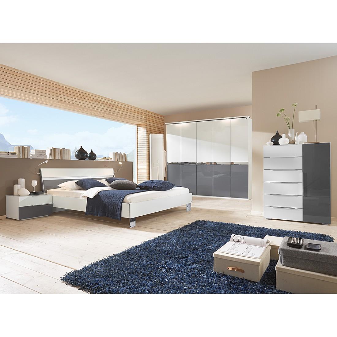 Schlafzimmerset Safe4 (4-teilig) – Alpinweiß/Grau – Bettbreite: 160 cm + Schrank 4trg., fresh to go bestellen