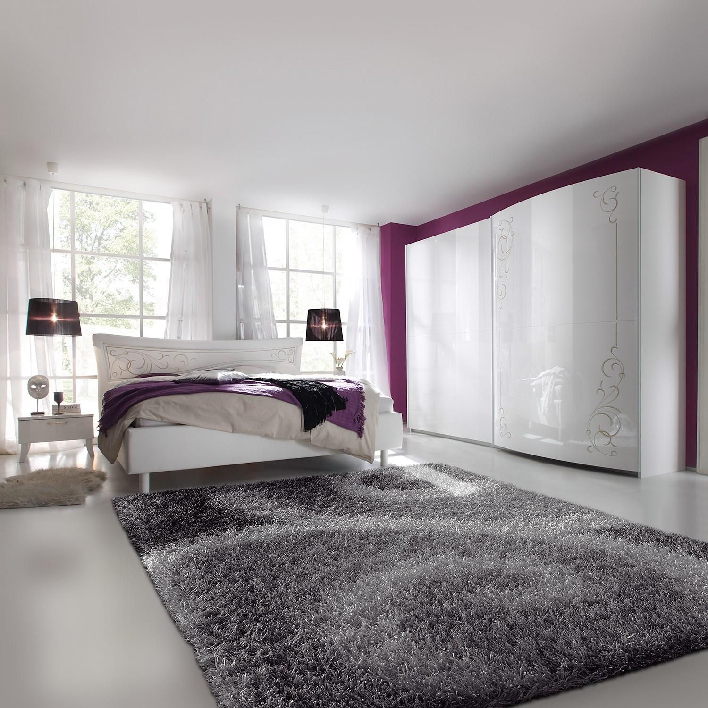 Schlafzimmerset Sibilla (4-teilig) - Hochglanz Weiß, Lc Mobili