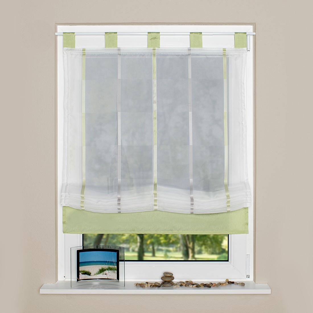 Schlaufenrollo Caleta – Grün – 80 x 140 cm, Home Wohnideen jetzt bestellen