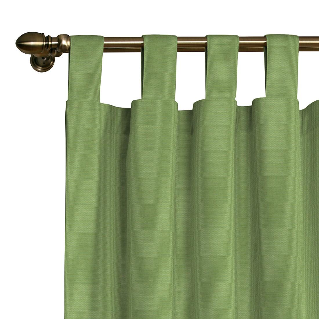 Schlaufenvorhang Atago – Hellgrün – 130 x 310 cm, Dekoria günstig kaufen
