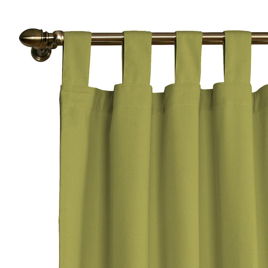 Schlaufenvorhang Loneta – Olivgrün – 130 x 260 cm, Dekoria günstig online kaufen