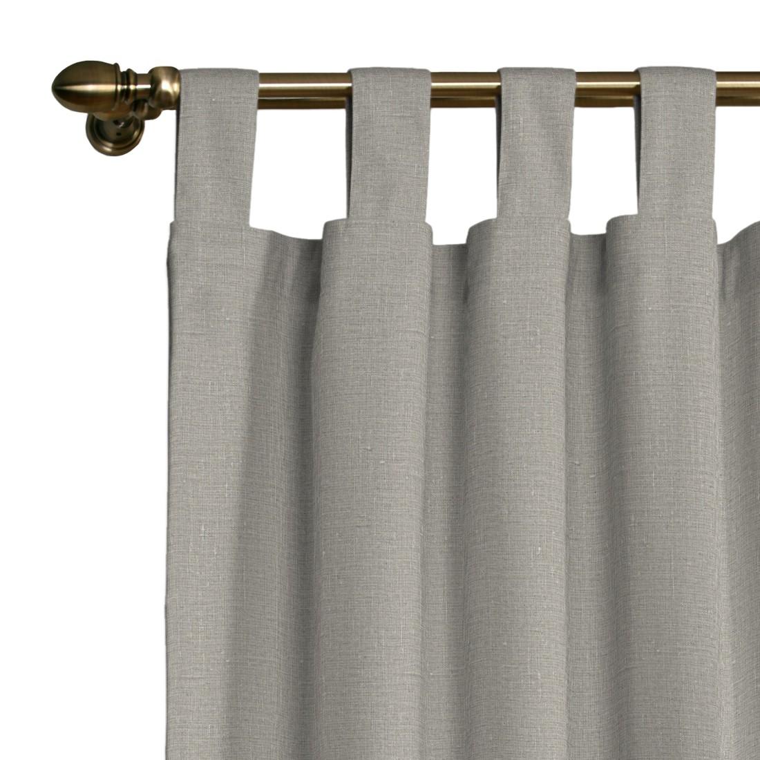 rideau passants en lin beige 130 x 260 cm. Black Bedroom Furniture Sets. Home Design Ideas