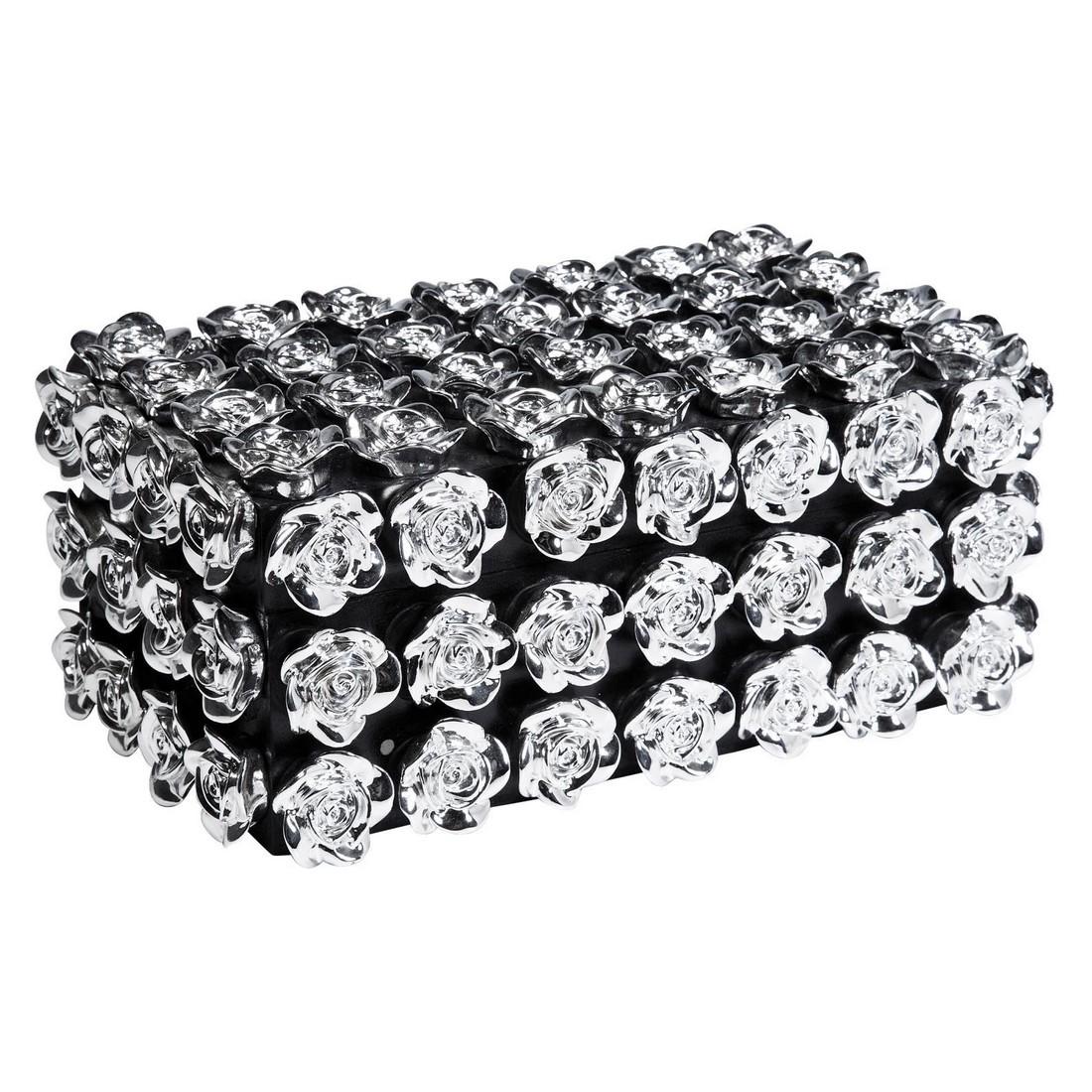Schmuckbox Roses Medium – Acryl – MDF Grau, Kare Design kaufen