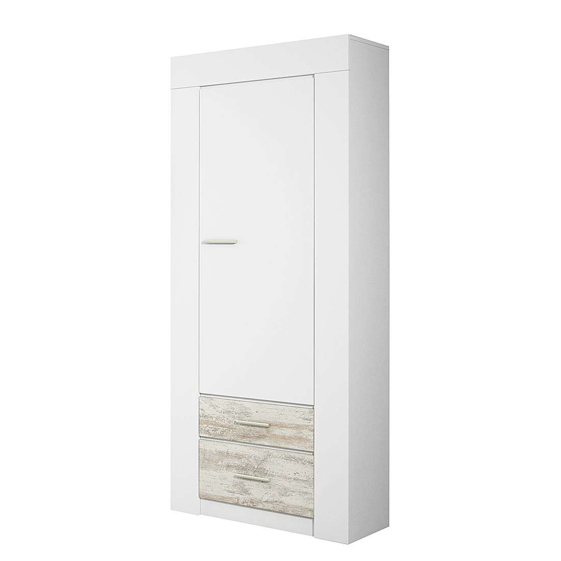 Schrank Cast II – Weiß/White Kiefer Dekor, Modoform jetzt kaufen