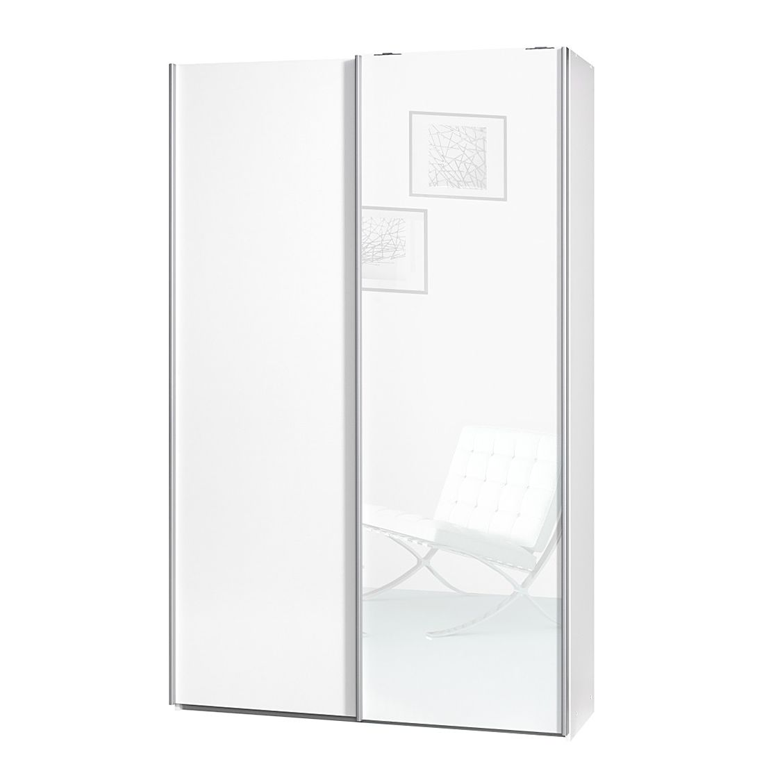 wei wei hochglanz wei breite 120 cm tiefe 42 cm cs schmal. Black Bedroom Furniture Sets. Home Design Ideas
