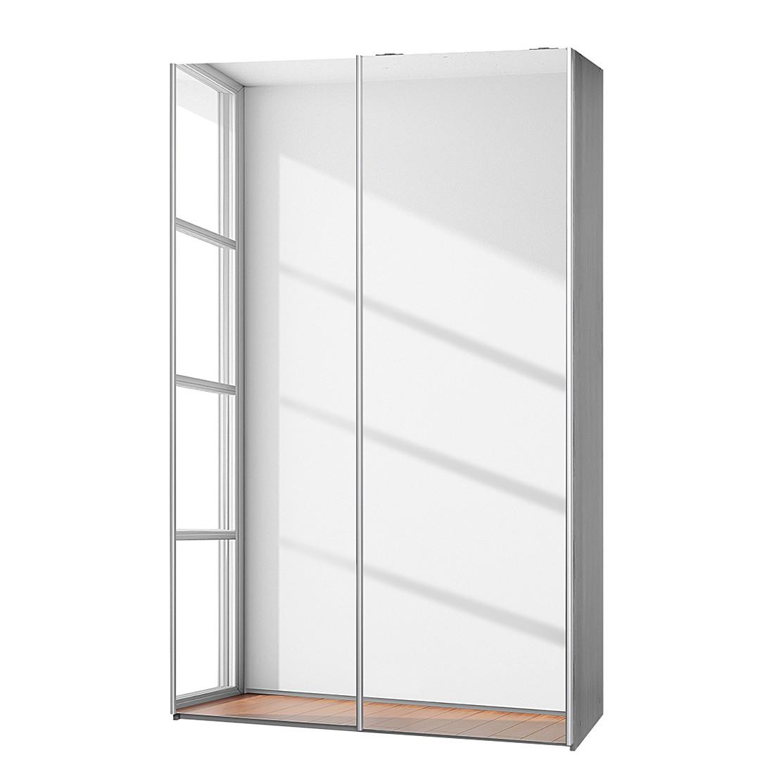 Schwebetürenschrank Soft Smart II – Silbereiche Dekor/Spiegeltüren – Breite: 120 cm / Tiefe 61 cm, CS Schmal jetzt bestellen