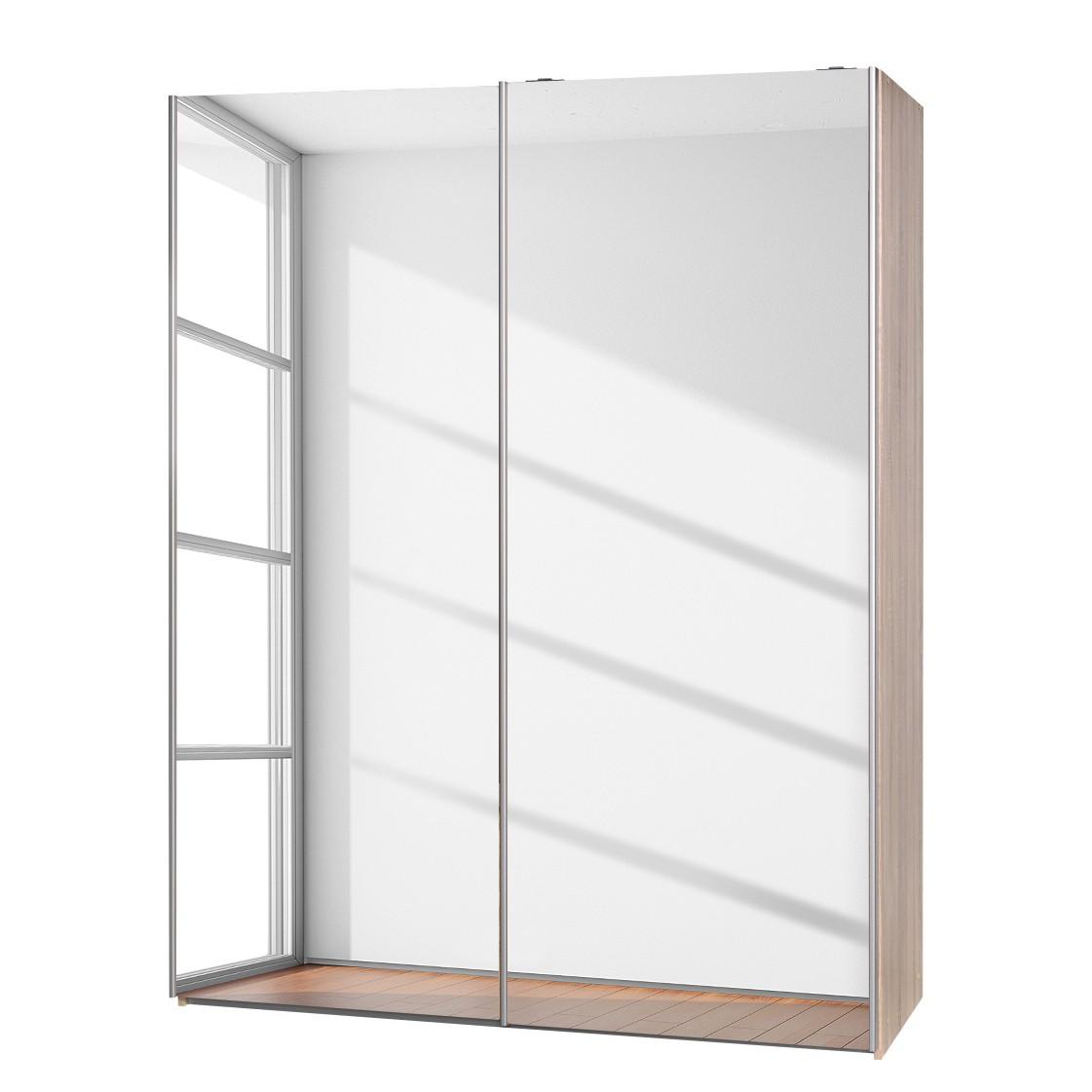 schwebet renschrank soft smart ii eiche dekor spiegelt ren breite 150 cm tiefe 61 cm cs. Black Bedroom Furniture Sets. Home Design Ideas
