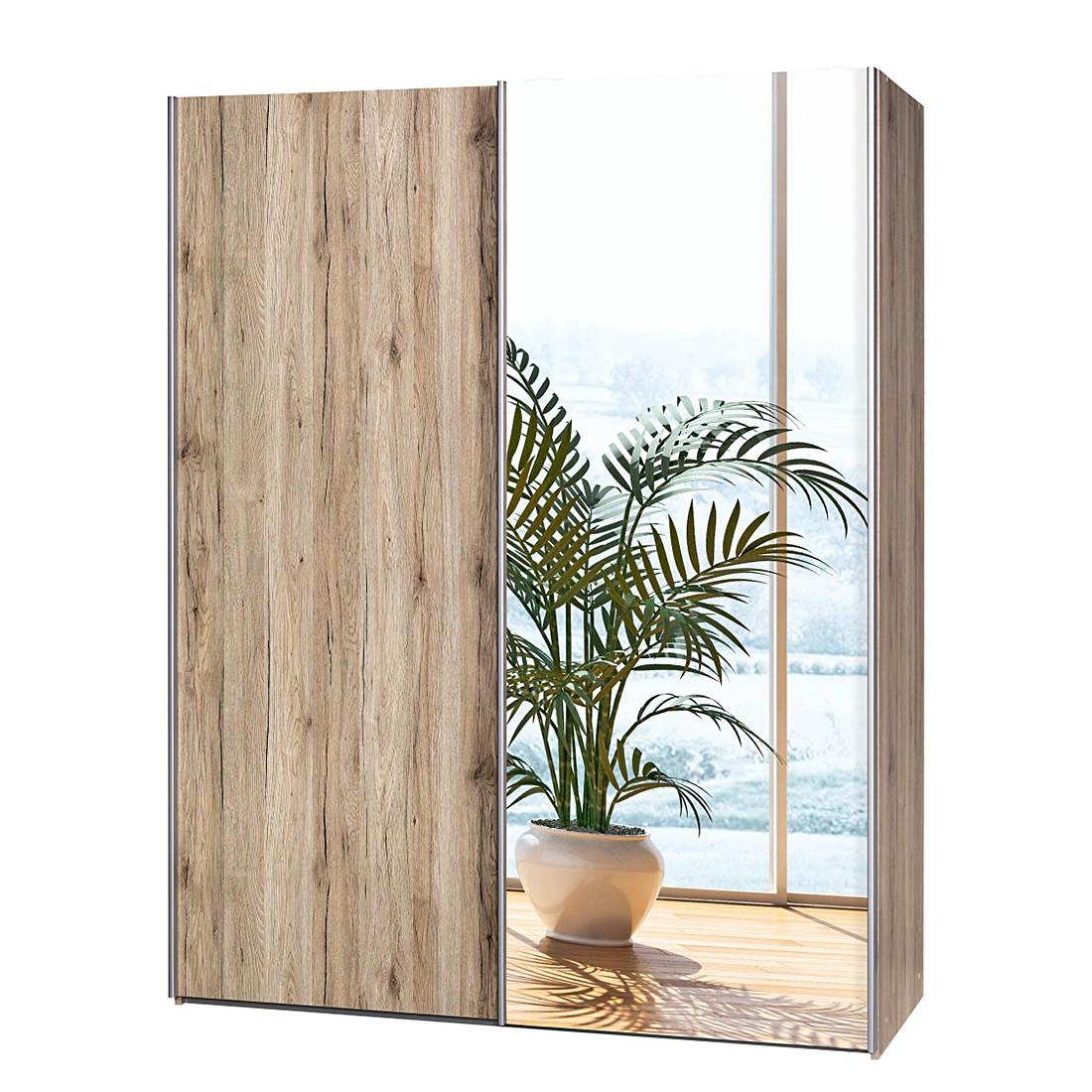 schwebet renschrank soft smart ii eiche sanremo dekor spiegel breite 150 cm tiefe 61 cm. Black Bedroom Furniture Sets. Home Design Ideas