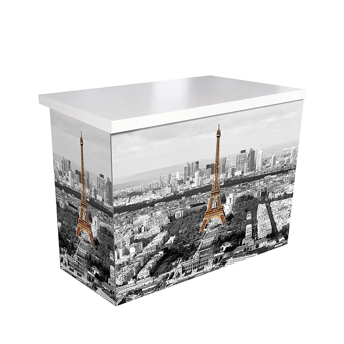 Schreibtisch ARTdESK L Paris - Tischplatte Weiß, iMöbel