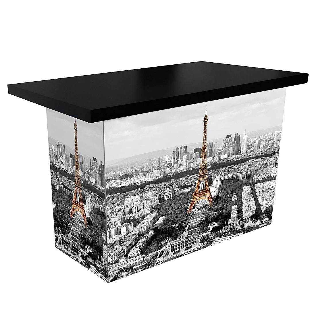 Schreibtisch ARTdESK XL Paris - Tischplatte Schwarz, iMöbel