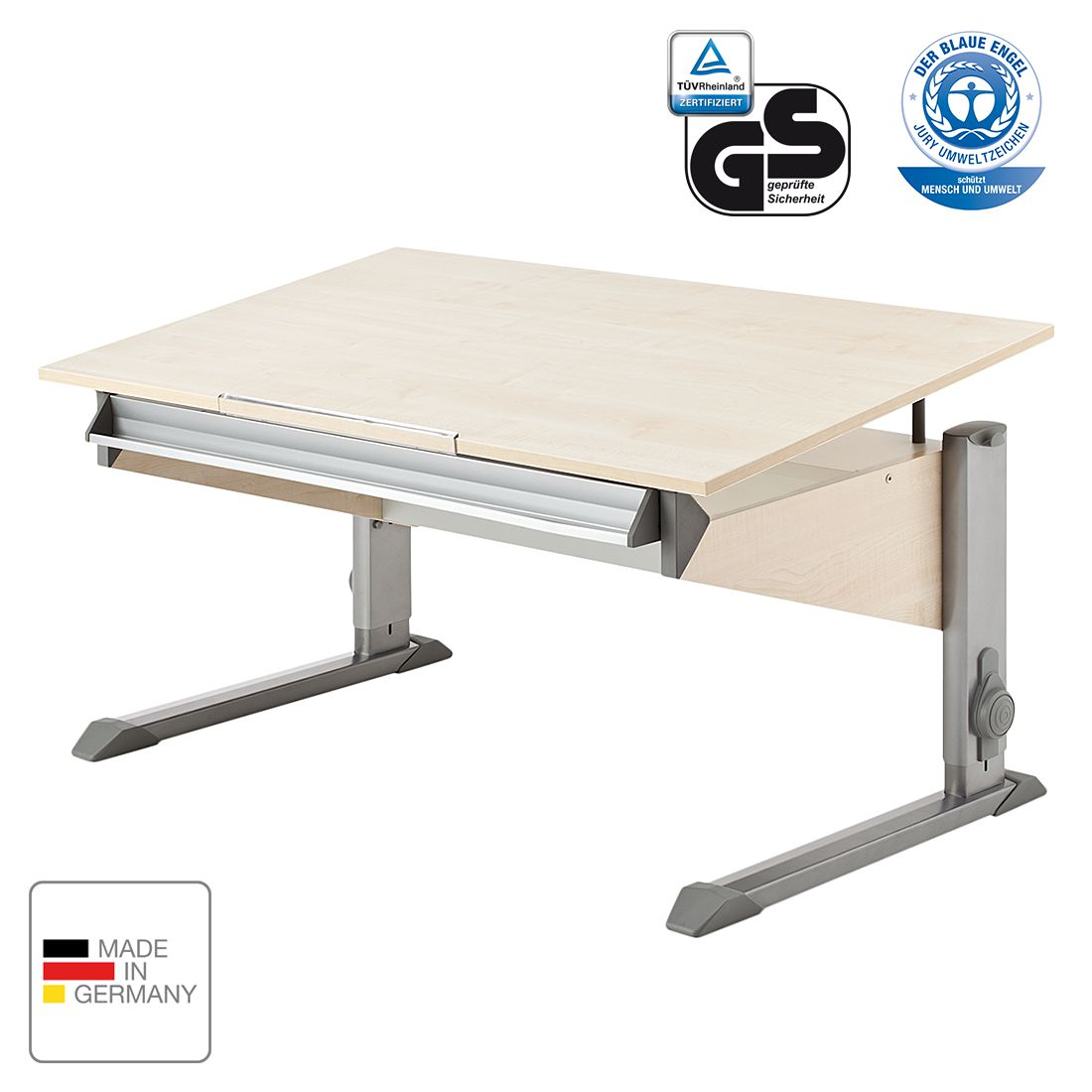 Schreibtisch bandit ahorn dekor ohne schublade bandit for Schreibtisch ahorn