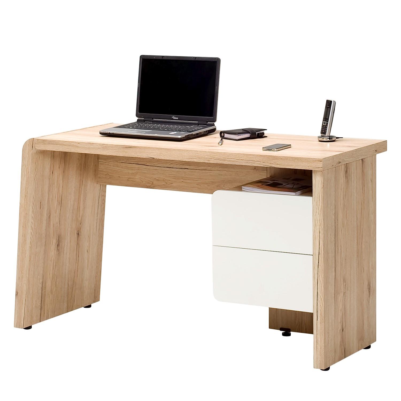 Schreibtisch CU Culture C130 - Eiche Sanremo Dekor / Weiß, Jahnke