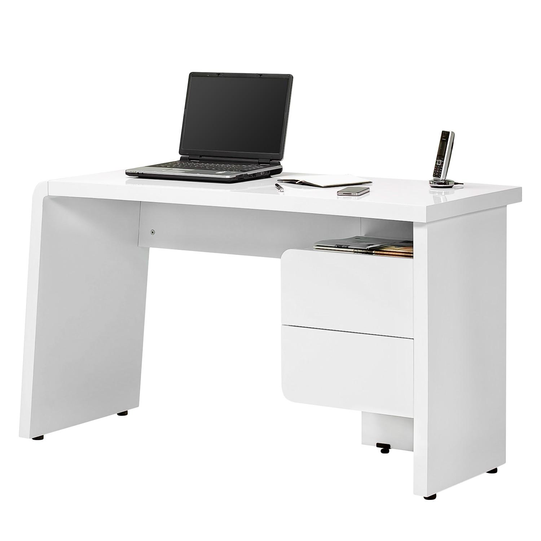 Schreibtisch CU Culture C130 - Hochglanz Weiß, Jahnke