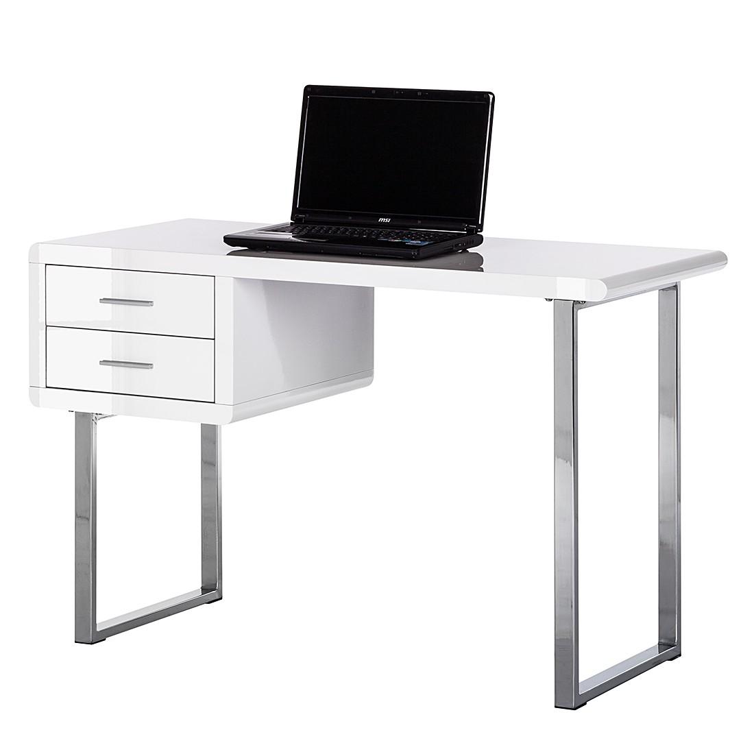 Schreibtisch Desky – Hochglanz Weiß, Fredriks günstig bestellen