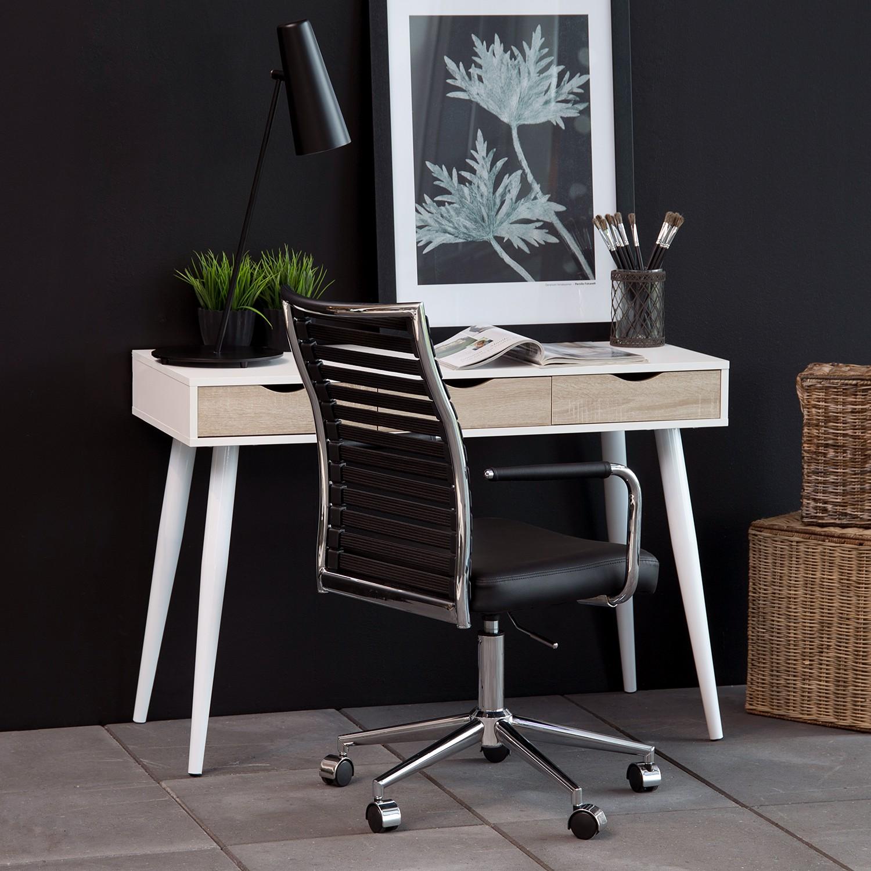 Schreibtisch wei eiche furnier b rotisch arbeitstisch for Schreibtisch eiche natur