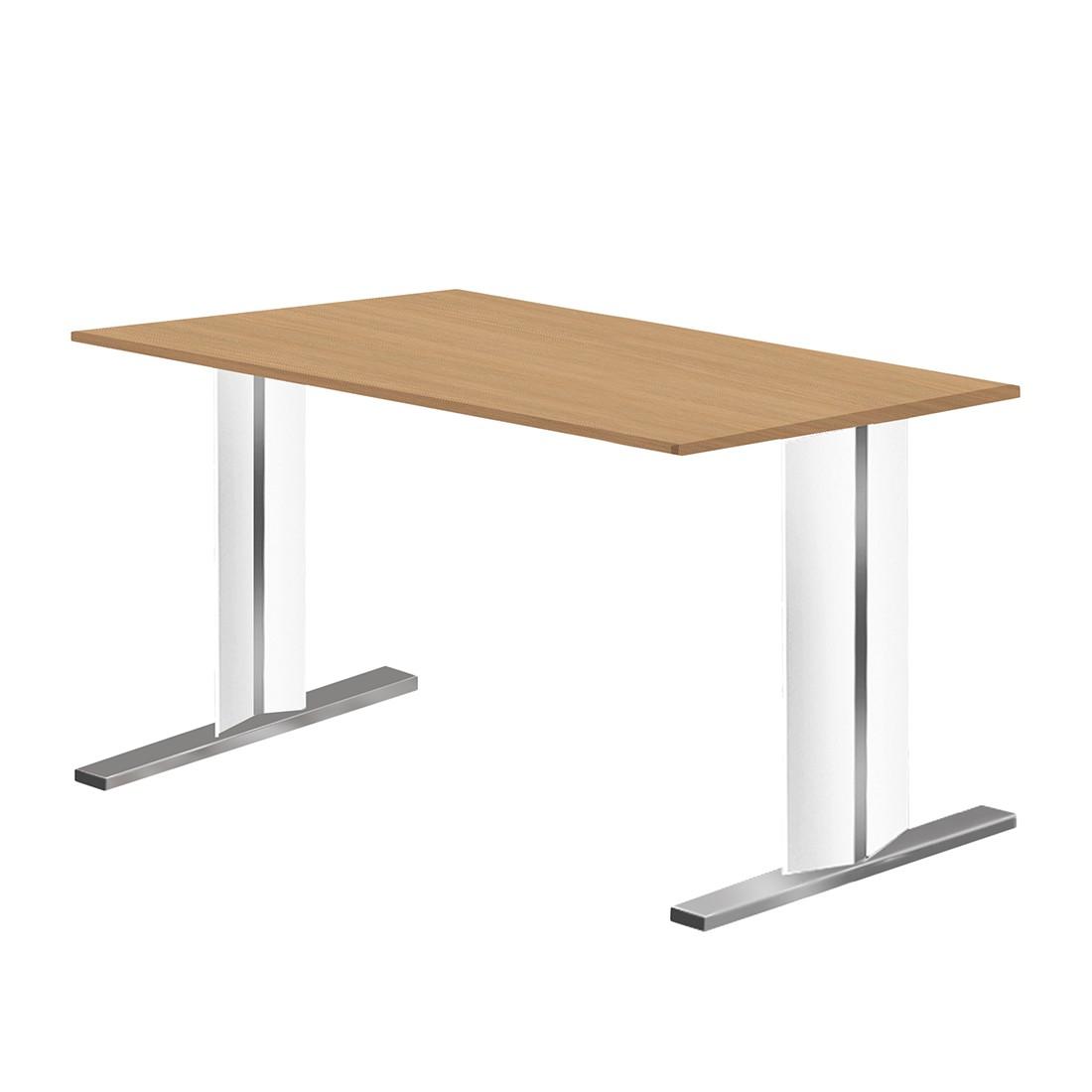 Schreibtisch Form 4 – Eiche/Weiß – Breite: 180 cm, Form 4 günstig