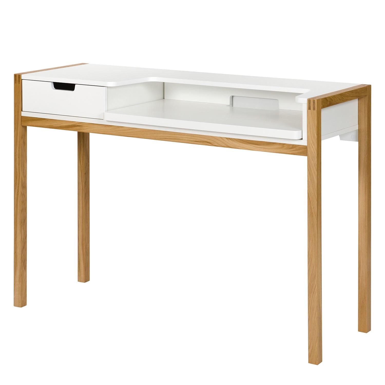 Schreibtisch halling ausziehbar wildeiche teilmassiv for Schreibtisch wildeiche