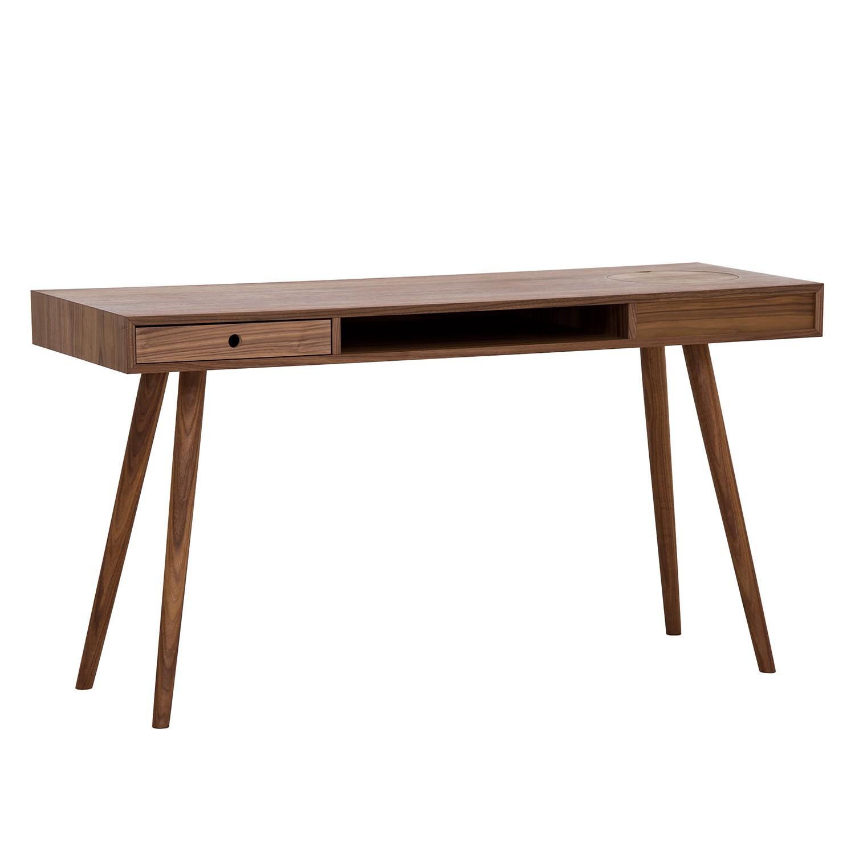 Schreibtisch massiv walnuss das beste aus wohndesign und for Runder schreibtisch
