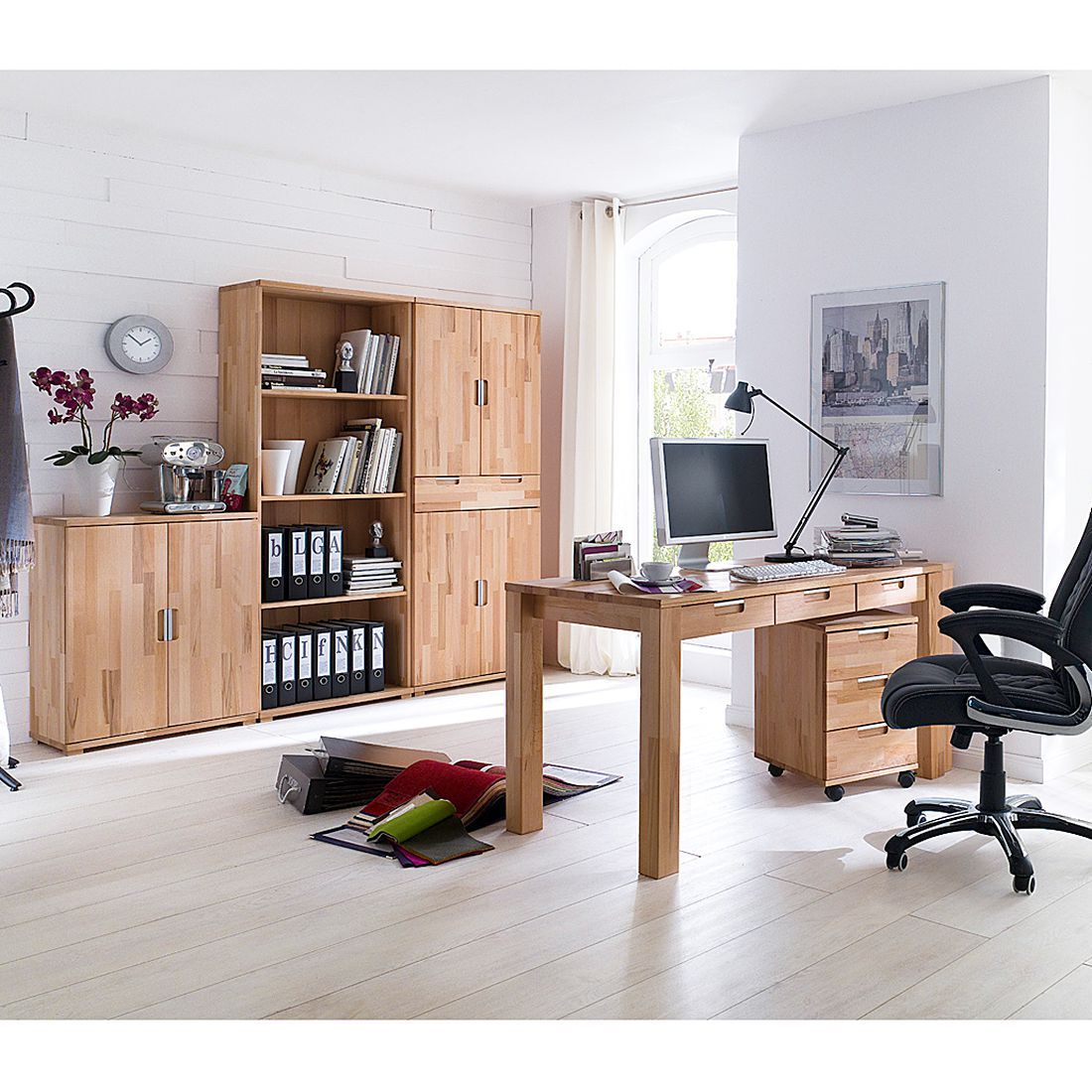 schreibtisch lumberjack kernbuche massiv ge lt b rotisch computertisch tisch ebay. Black Bedroom Furniture Sets. Home Design Ideas