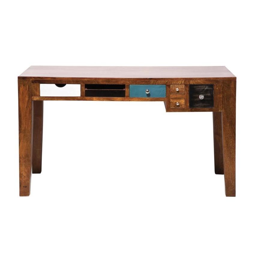 Schreibtisch Babalou - Braun/Mehrfarbig, Kare Design