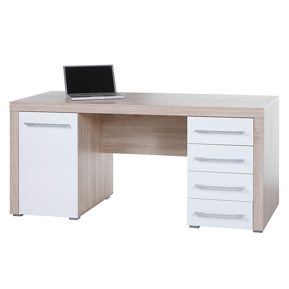 Bureau teshie hoogglans wit home24 office in de aanbieding for Home24 office