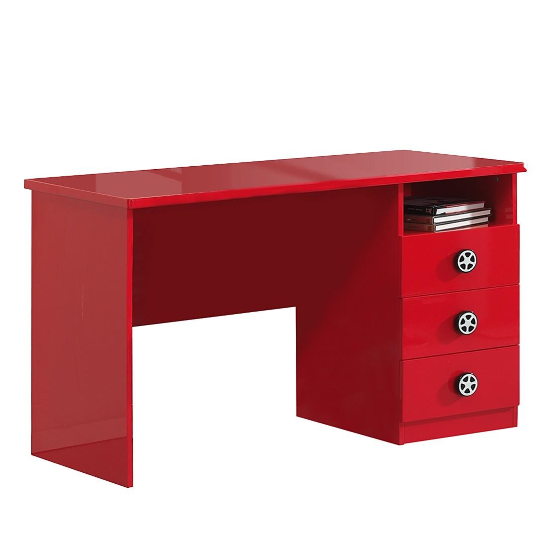 Schreibtisch monza rot vipack m vi kj0048 kauf dir for Schreibtisch rot lack